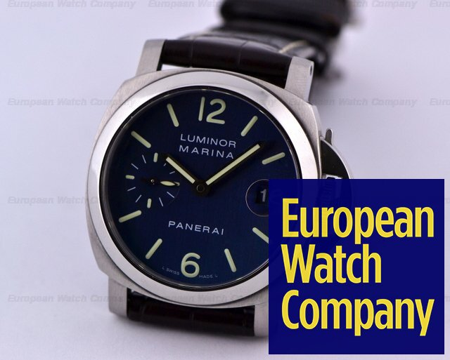 the latest 2c7ef 7fa2b 18044) Panerai PAM0119 Luminor Marina Blue Dial 40MM