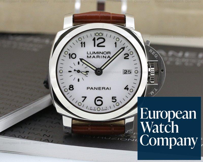 low priced 5ec56 be839 23066) Panerai PAM00523 Luminor 1950 SS White Dial 42MM