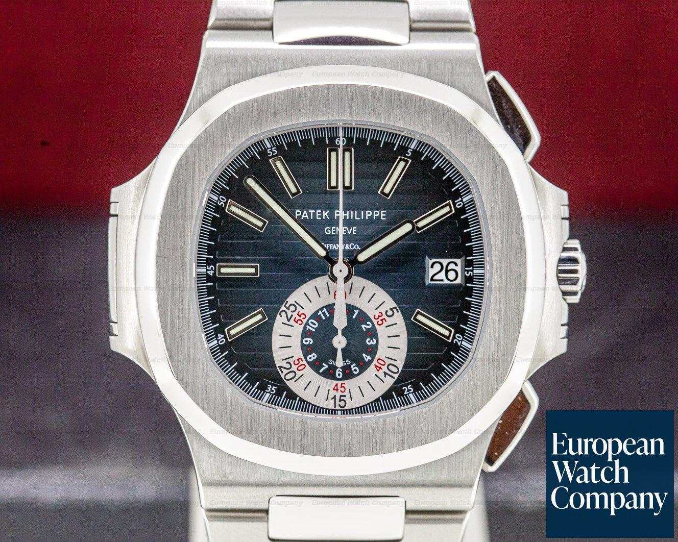 Patek Philippe 5980/1A-001 Nautilus Chronograph SS Blue Dial
