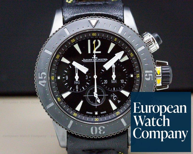 Jaeger LeCoultre Q178T471 Master Compressor Diving Chronograph GMT Navy Seals / Calfskin