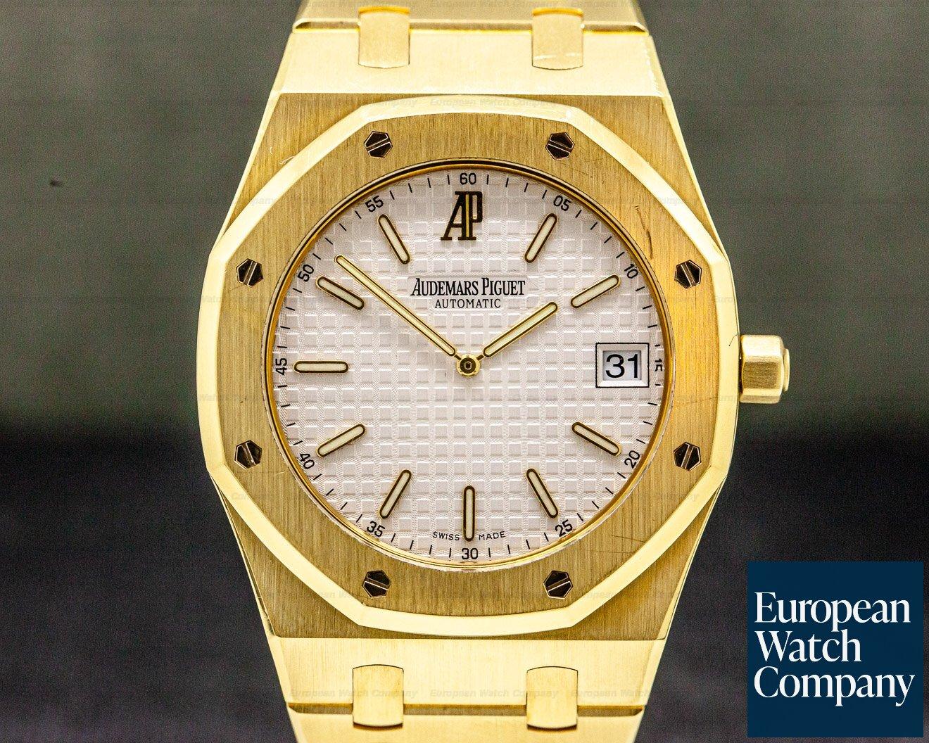 Audemars Piguet 15202BA.O.0944BA.01 Royal Oak Jumbo 18k Yellow Gold / Extra white Dial FULL SET
