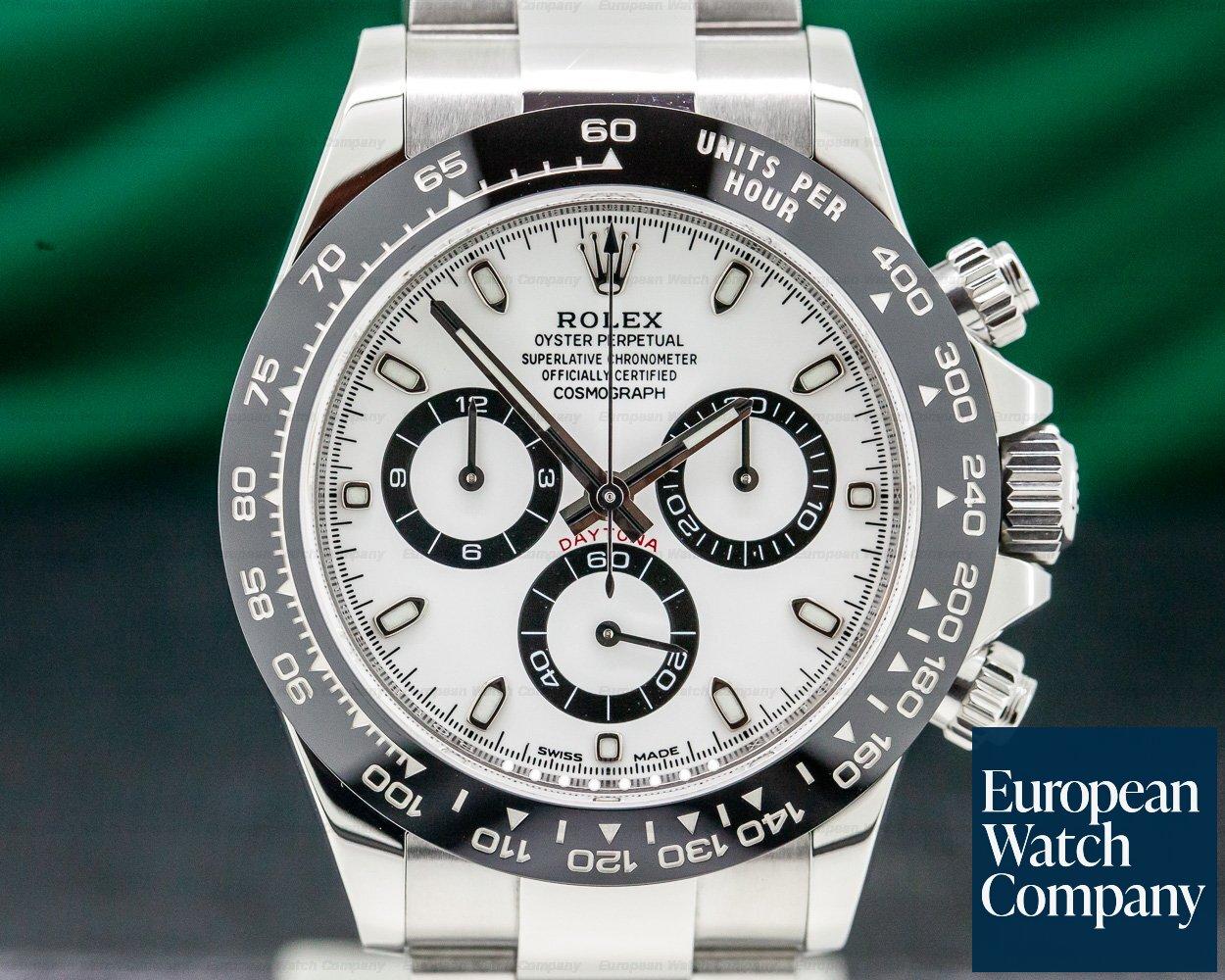 Rolex 116500LN Daytona Ceramic Bezel SS / White Dial