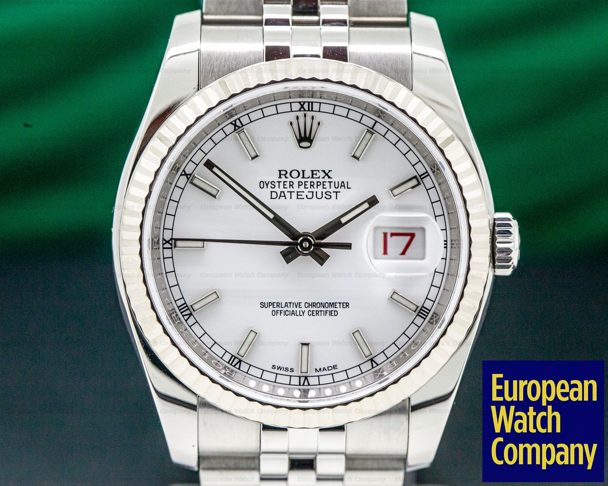 Rolex 116234 Datejust SS Jubileee / White Dial