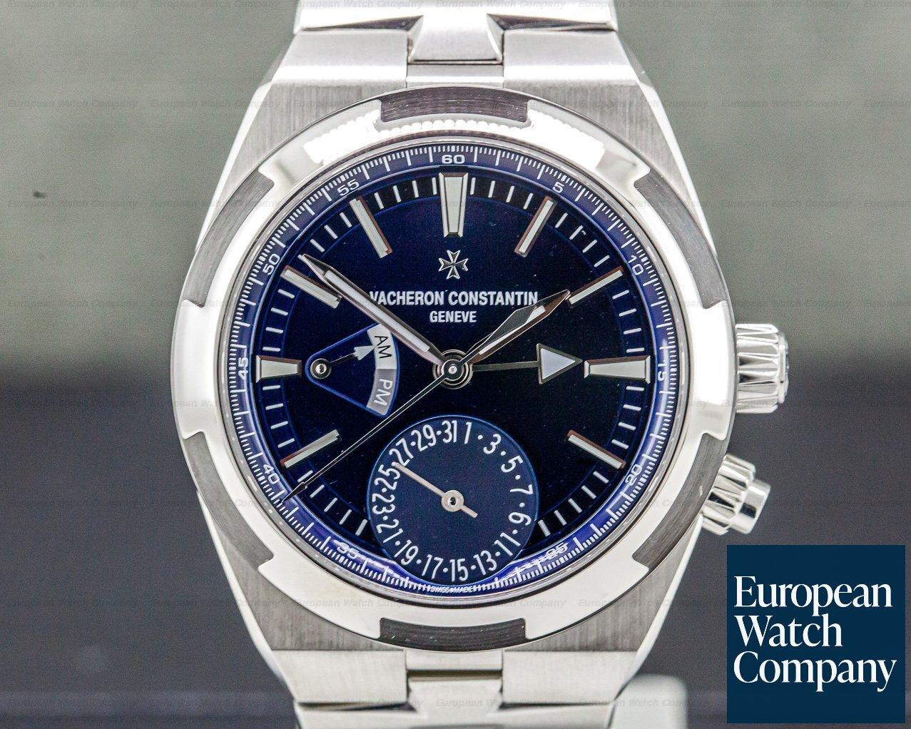 Vacheron Constantin 7900V/110A-B334 Overseas Dual Time SS Blue Dial