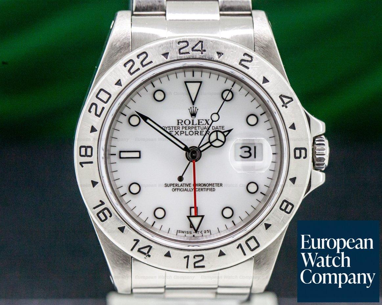 Rolex 16570 Explorer II White Dial