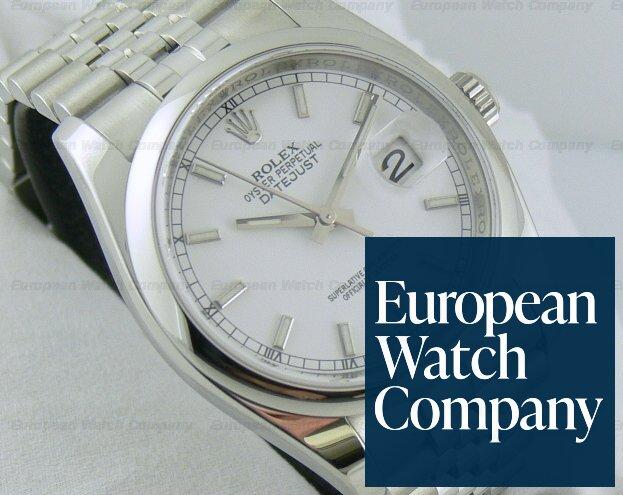 10957) Rolex 116200 Datejust White Jubilee Bracelet with