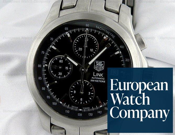 046ed07564c2 13041) TAG Heuer CJF2110.BA0576 Link Automatic Chronograph Black Dial