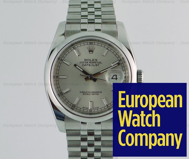 13671 Rolex 116200 Datejust White Jubilee Bracelet With Hidden Clasp