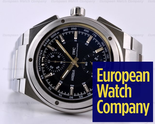 huge selection of 01f9b 93603 17428) IWC IW372501 Ingenieur Chronograph SS / SS Black Dial