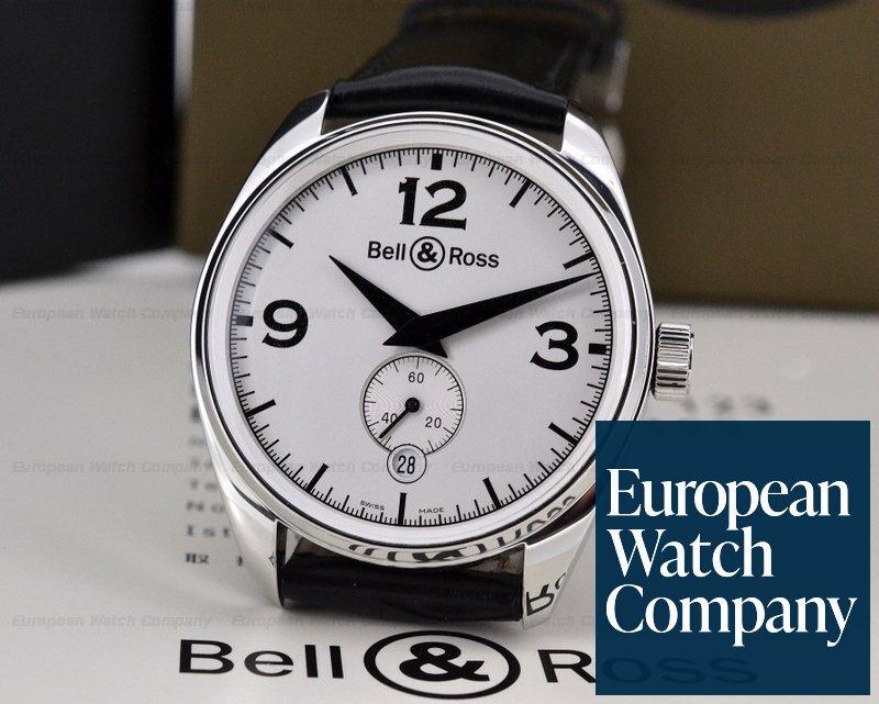 (19870) Bell & Ross 123 Vintage 123 Geneva White Dial SS