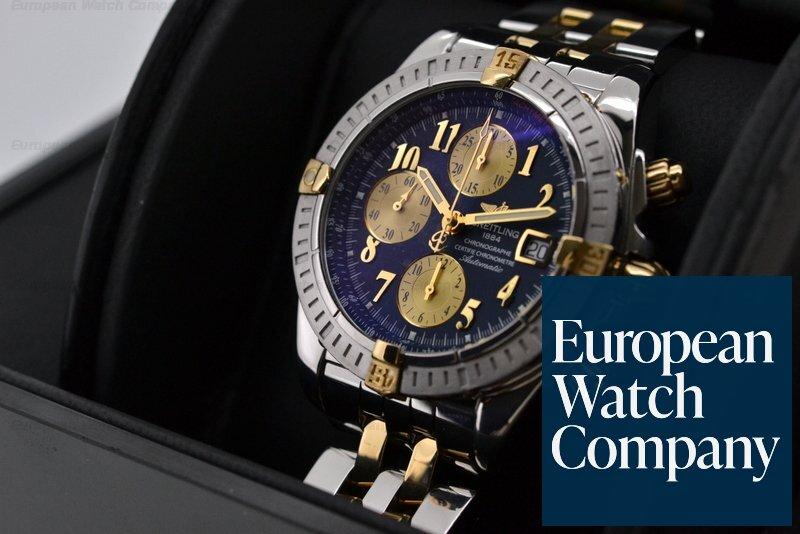 newest 25892 5e4d7 21458) Breitling B13356 Chronomat Evolution 18K Yellow Gold ...