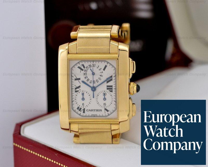 c3f03801eb5a Cartier W50005R2 Tank Francaise Chronoflex Quartz Chronograph 18K   18K  (21470)