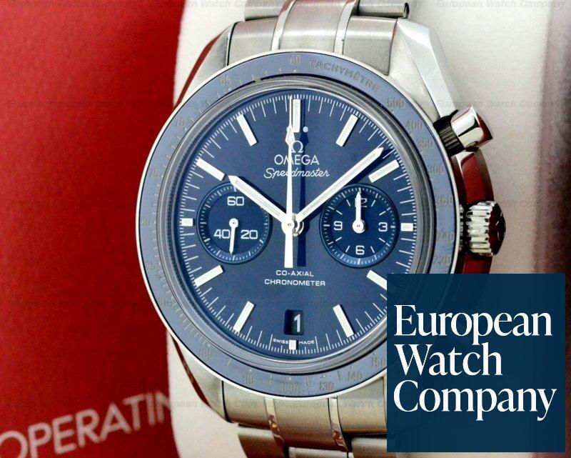 5ca1b771ba8 (22209) Omega 311.90.44.51.03.001 Speedmaster Moonwatch Titanium   Blue Dia
