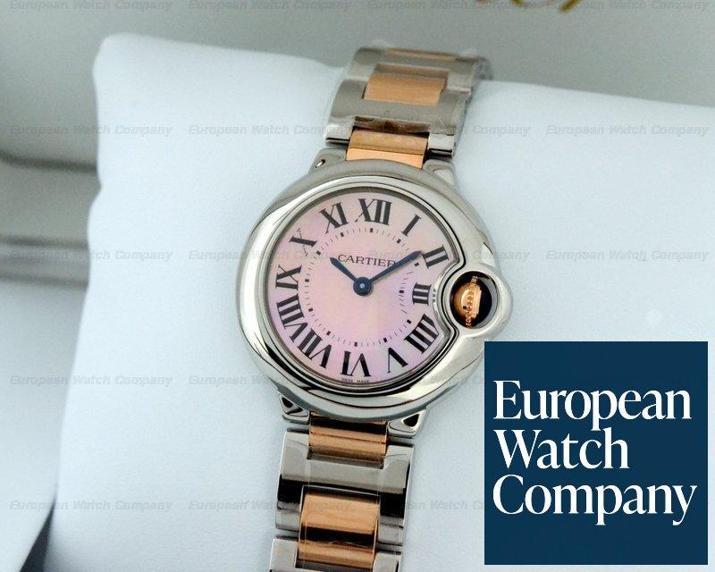 online retailer 55eda 218a9 22604) Cartier w6920034 Ballon Bleu Ladies SS / 18K Rose ...