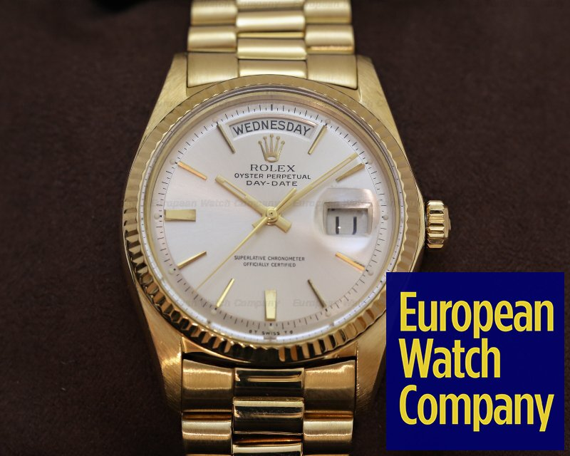 Rolex Oyster Perpetual Day Date Silver And Gold