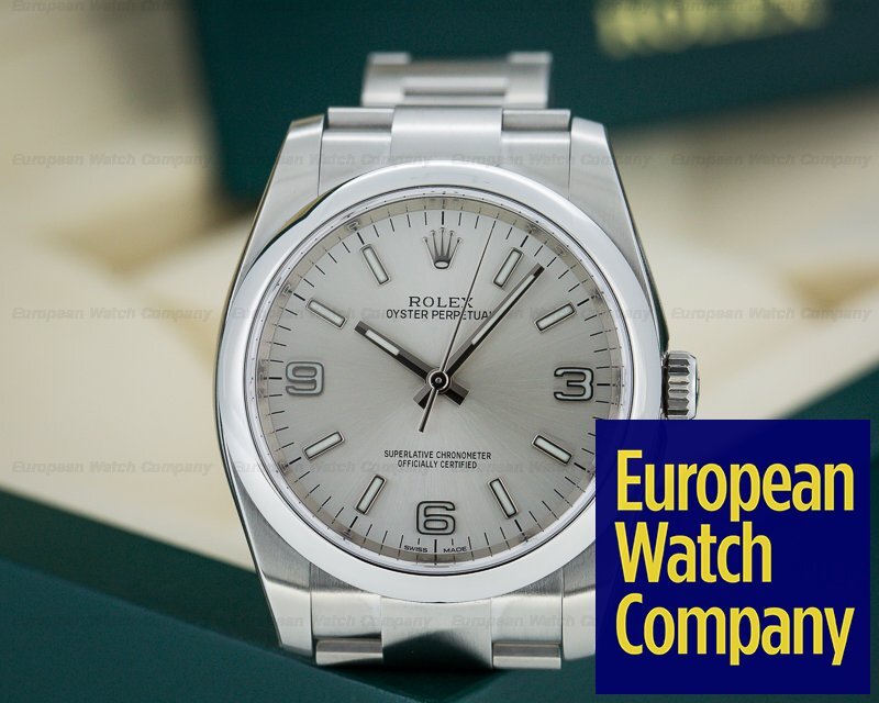 6258ece1318 Rolex 116000 Oyster Perpetual SS Silver Dial UNWORN (22843)