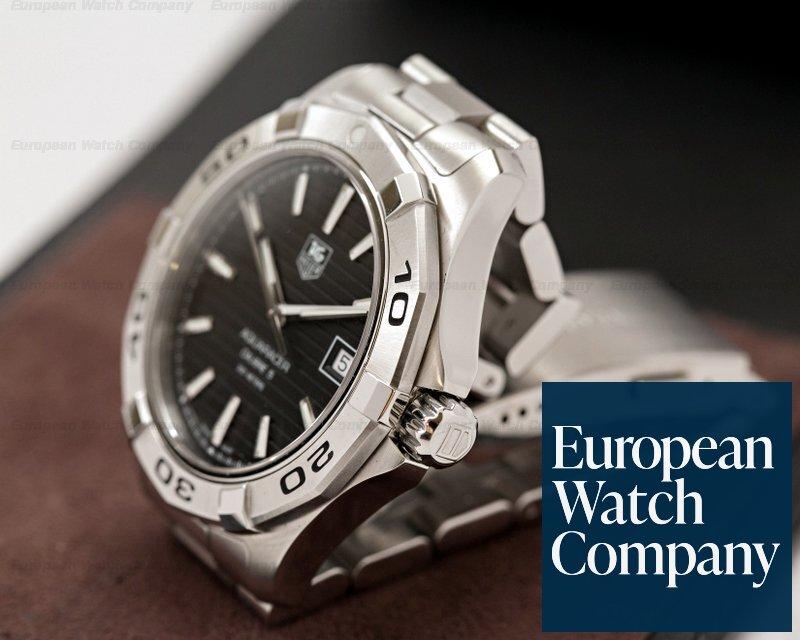 hot sale online c514d 9e13c 23009) TAG Heuer WAP2010 Aquaracer Black Dial SS