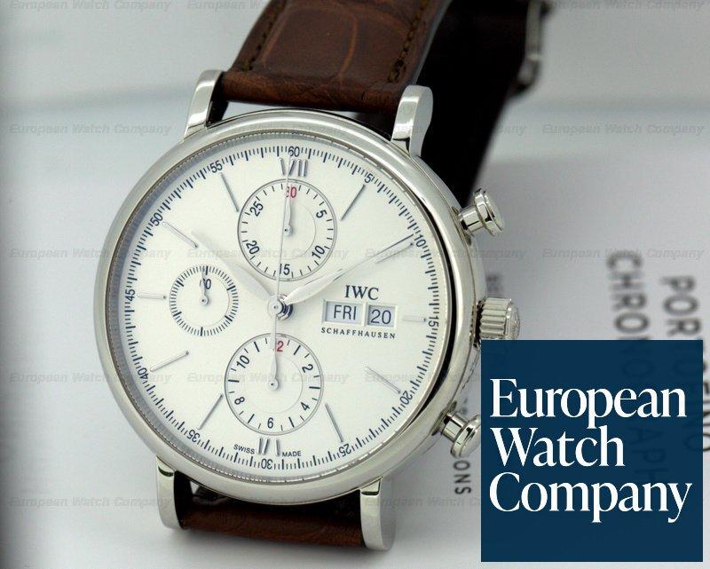 info for 9ed0a 5fa42 23139) IWC IW391007 Portofino Chronograph SS Silver Dial