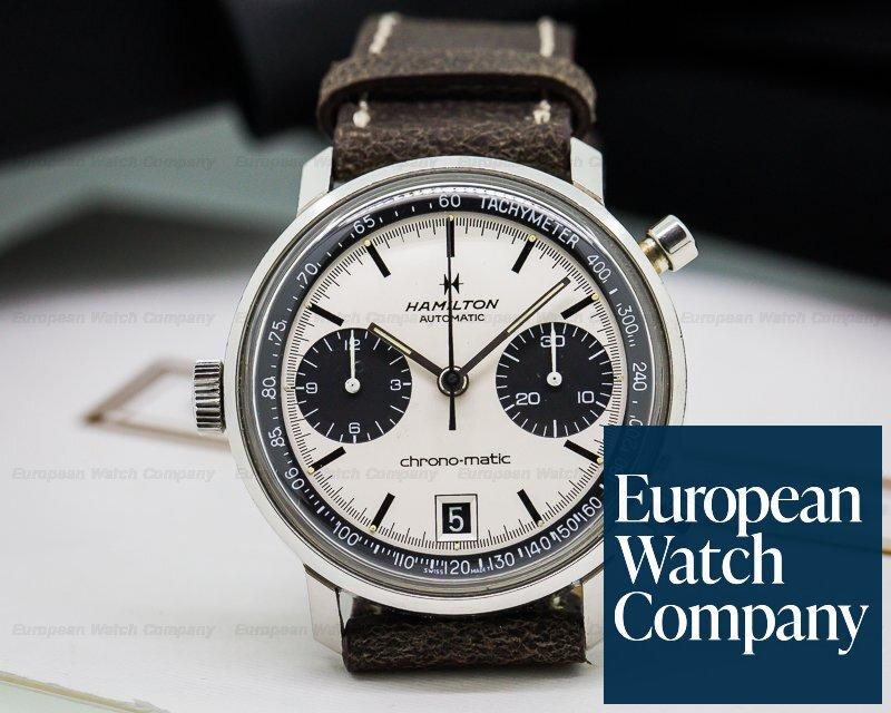 (24389) Hamilton 11002-3 Vintage Chrono-Matic Chronograph Steel Panda Dial/