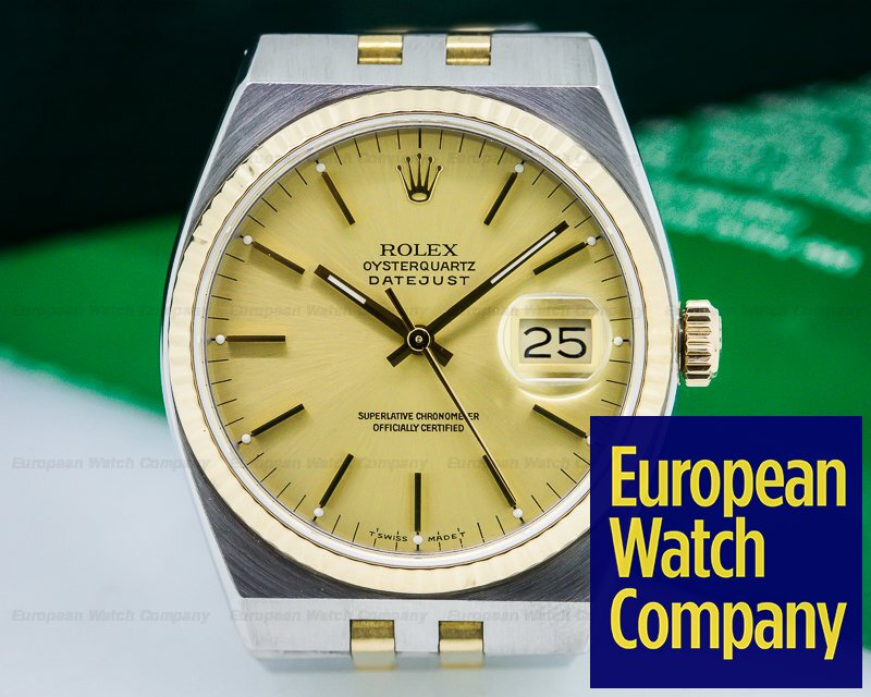 c7f883ab263b Rolex 17013 Oyster Quartz Champagne Dial SS 18K Yellow Gold (24858)