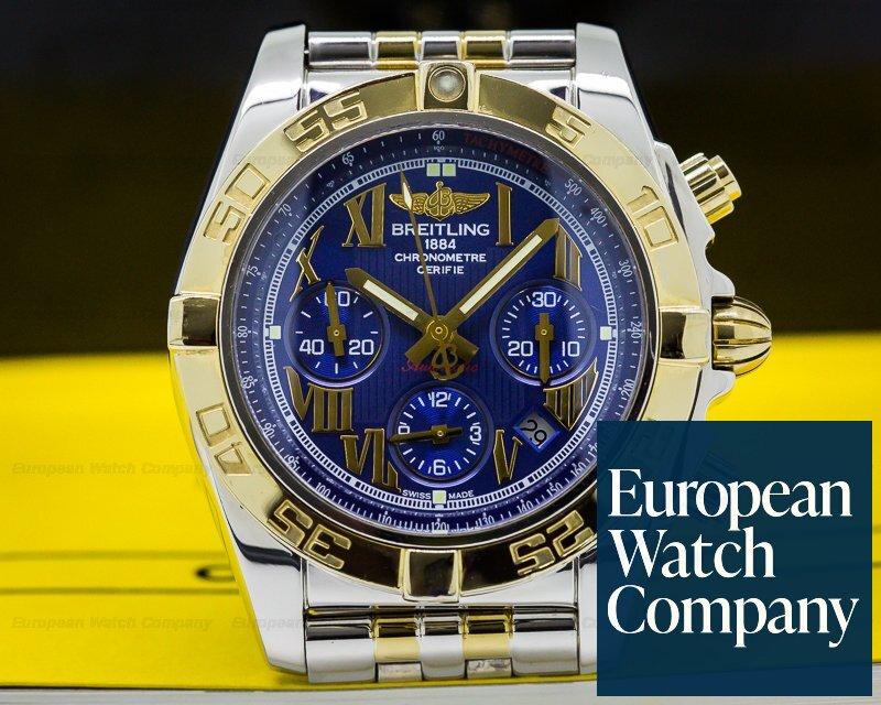 (26278) Breitling AB0110 Chronomat 44 B01 White Dial SS / 18k