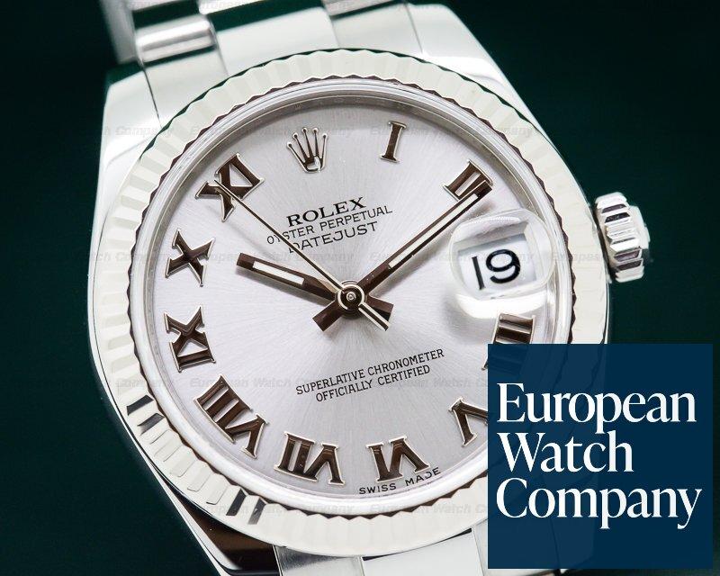 Rolex 178274 Datejust Midsize Oyster Rhodium Roman Dial