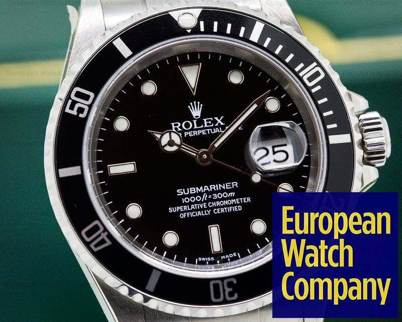 Rolex 16610 Submariner Date SS NEW OLD STOCK Full-Set Collector Quality