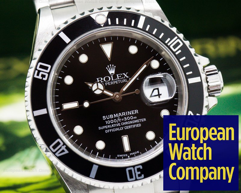 Rolex 16610 Submariner Date SS NEW OLD STOCK Complete Collector Quality