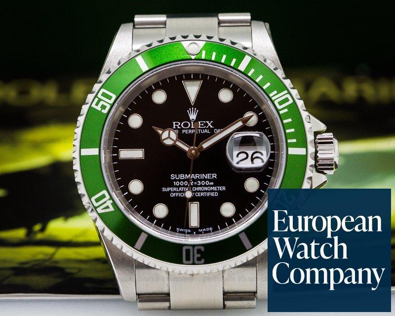 Rolex 16610LV Submariner 50th Anniversary F series NOS - COMPLETE