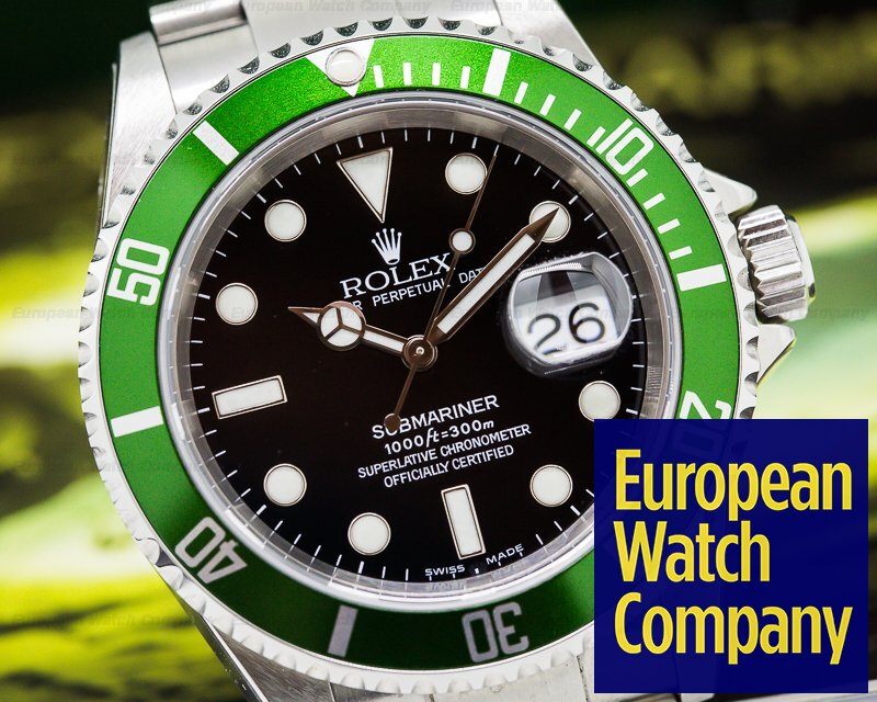 Rolex 16610LV Submariner 50th Anniversary F series NOS - COMPLETE