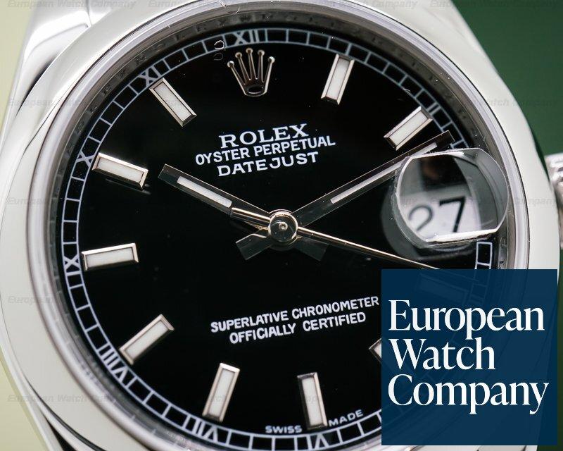 Rolex 178240 Datejust Lady 31 Black Stick Dial