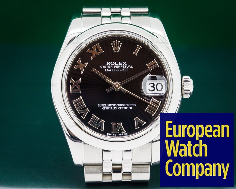 Rolex 178240 Datejust Lady 31 Black Sunburst Jubilee