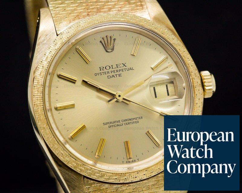 Rolex 1514 Oyster Date 18K Yellow / RARE MESH BRACELET