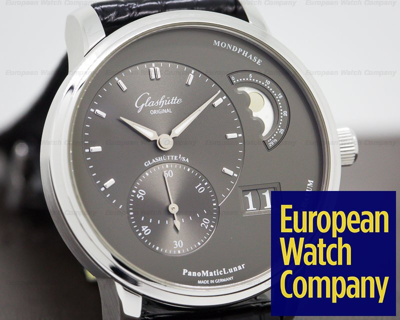 Glashutte Original 90-02-43-32-05 PanoMatic Lunar SS Grey Dial