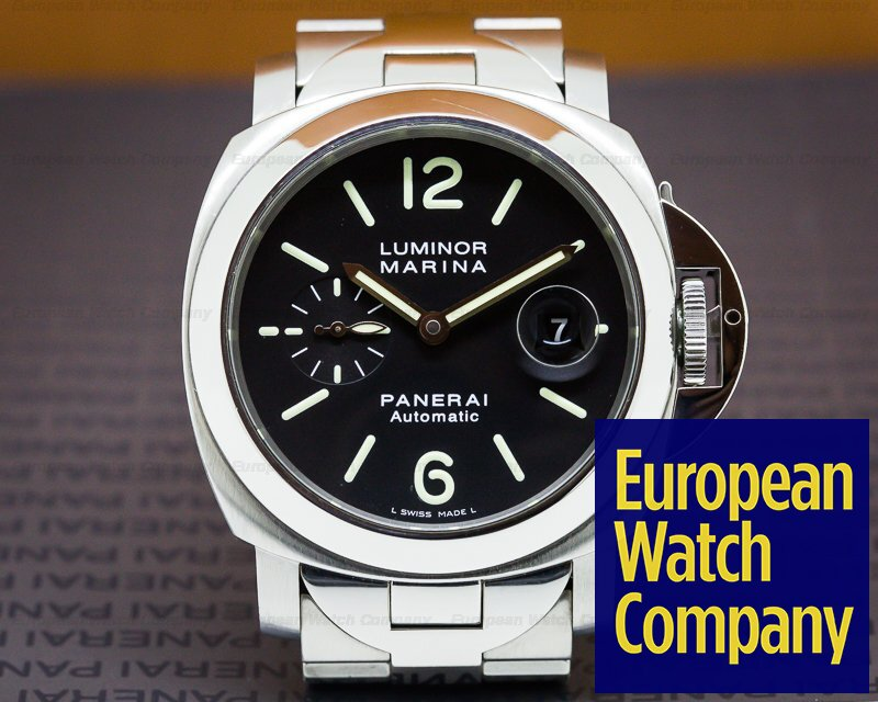 Panerai PAM00220 Luminor Automatic SS Black Dial