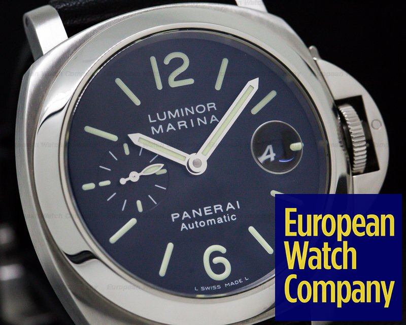 Panerai PAM00220 Luminor Marina Automatic Black Dial SS