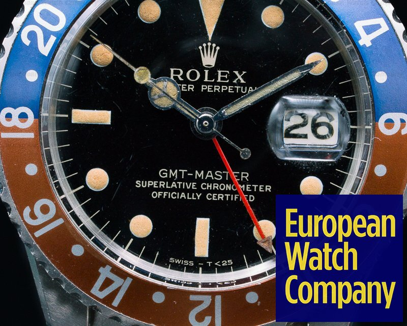 Rolex 1675 Gilt Glossy GMT Master INCREDIBLE CONDITION