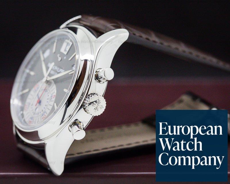 (27202) Patek Philippe 5960P Annual Calendar Chronograph Platinum Grey Dial