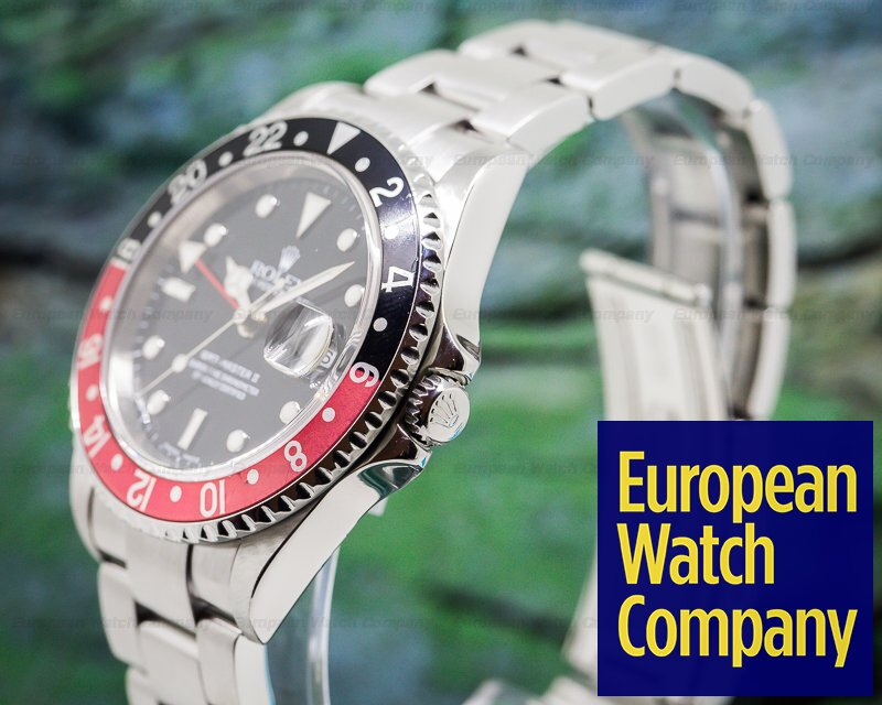 "Rolex 16710T GMT Master II SS Red / Black Coke ""Full Set"""