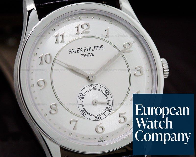 Patek Philippe 5196P-001 Calatrava Platinum Silver Dial Arabic Numerals UNWORN