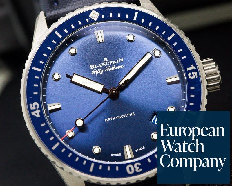 (27291) Blancpain 5000-0240-o52a Fifty Fathoms Bathyscaphe Ceramic Blue