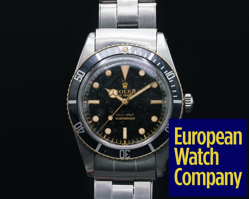 Rolex 5508 Small Crown Gilt Submariner Original Box + Papers