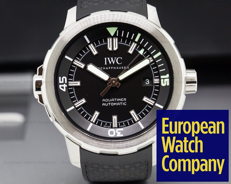 IWC IW329001 Aquatimer Automatic Black Dial SS / Rubber Strap