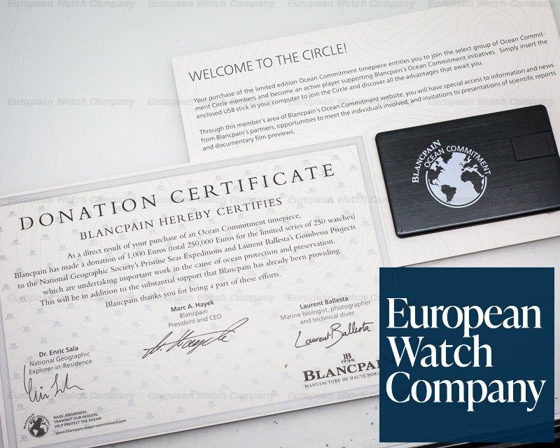 Blancpain 5200-0310-B52A Fifty Fathoms Bathyscaphe Chronograph Ocean Commitment II UNWORN