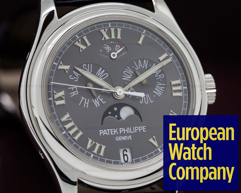 Patek Philippe 5056P Annual Calendar Power Reserve Grey Dial Platinum