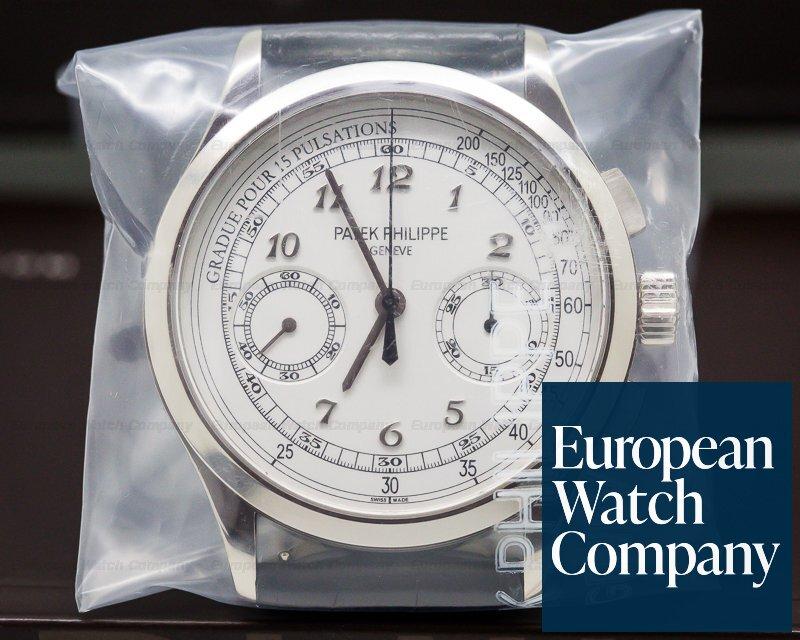 Patek Philippe 5170G-001 Chronograph 18K White Gold / Silver Pulsation SEALED
