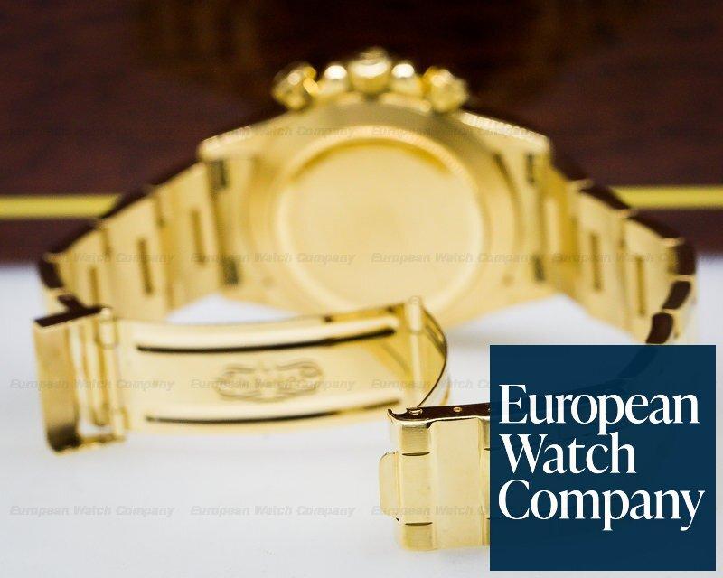 (27393) Rolex 16528 Daytona Zenith Black Dial 18K Yellow Gold / Bracelet NI