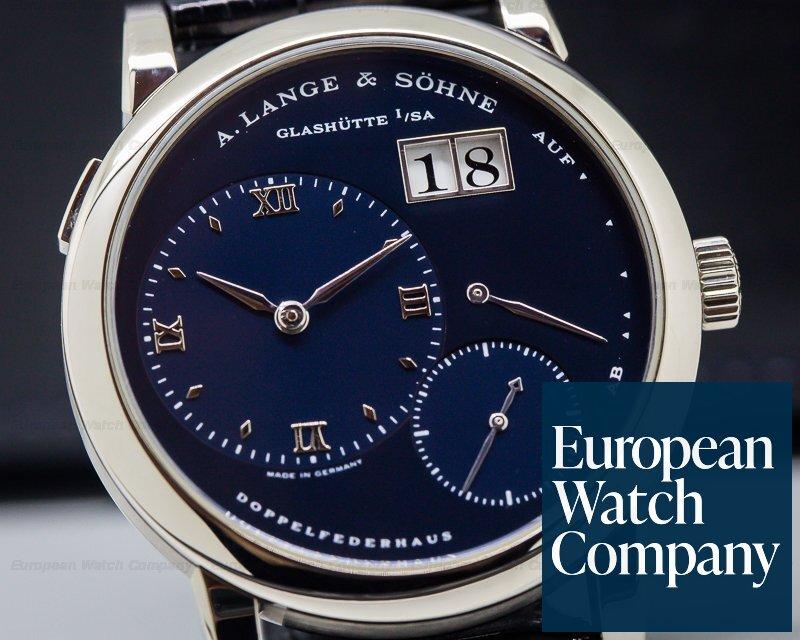 A. Lange and Sohne 101.027 Lange 1 Blue Dial 18k White Gold