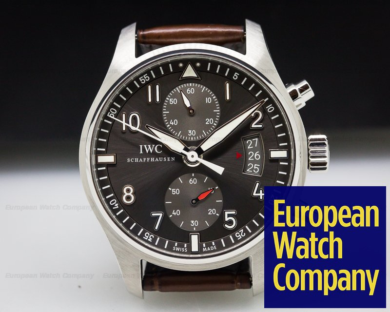 (27424) IWC IW387802 Pilot Spitfire Chronograph SS Grey Dial