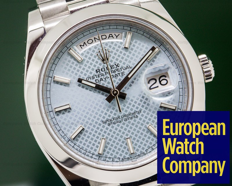 Rolex 228206 Day Date Platinum Blue Dial 40mm